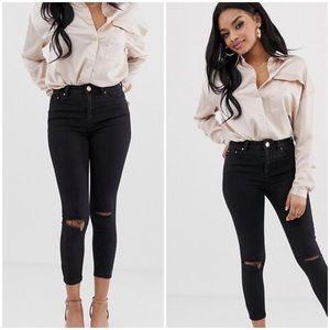 ASOS Petite Ridley high waist skinny jeans, sz 26